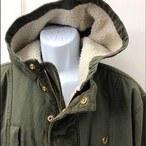 NEW wTag-TRUE RELIGION Green Hooded Parka Jacket L